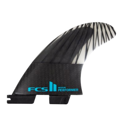 Quilha FCS II Performer Média PC Carbon Preto