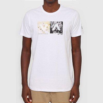 Camiseta RVCA VA Montage Masculina Branco