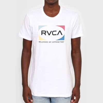 Camiseta RVCA Quad Masculina Branco