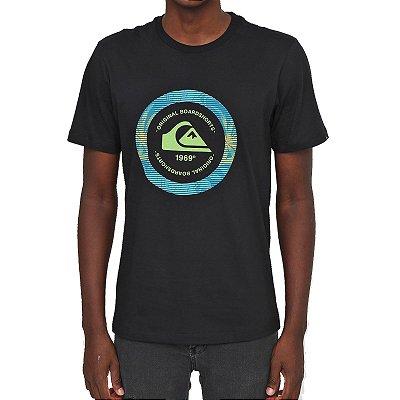 Camiseta Quiksilver Circle Masculina Preto