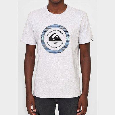 Camiseta Quiksilver Circle Masculina Cinza Claro