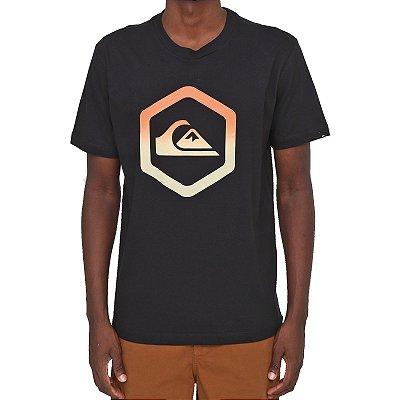 Camiseta Quiksilver Black Slab Masculina Preto