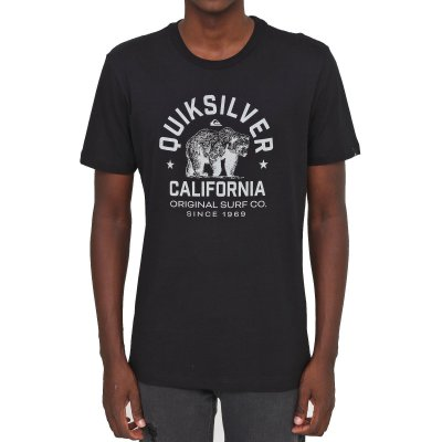 Camiseta Quiksilver CA Mascot Masculina Preto