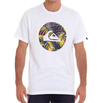Camiseta Quiksilver Jungle Logo Masculina Branco