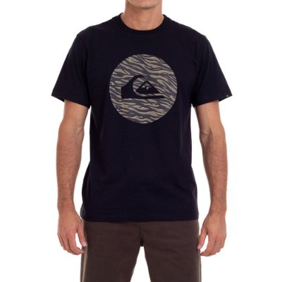 Camiseta Quiksilver Jungle Logo Masculina Preto