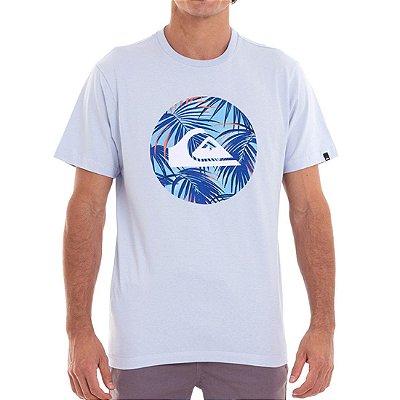 Camiseta Quiksilver Jungle Logo Masculina Azul Claro