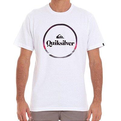 Camiseta Quiksilver Block Down Masculina Branco