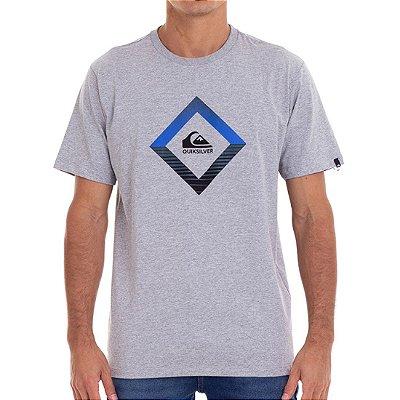 Camiseta Quiksilver Tropics Masculina Cinza Claro
