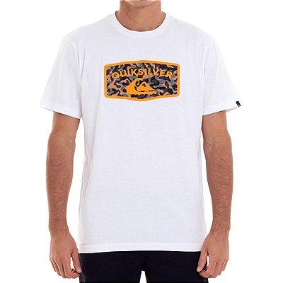 Camiseta Quiksilver Camo Masculina Branco