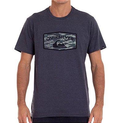 Camiseta Quiksilver Camo Masculina Cinza Escuro