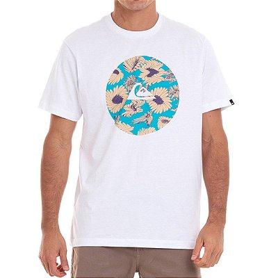 Camiseta Quiksilver Fast Time Masculina Branco