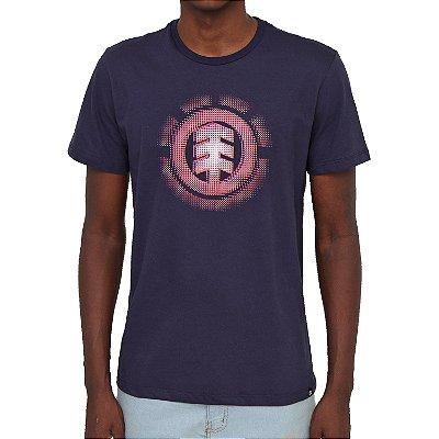 Camiseta Element Gradient Logo Masculina Azul Marinho