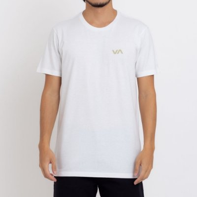 Camiseta RVCA VA Masculina Off White