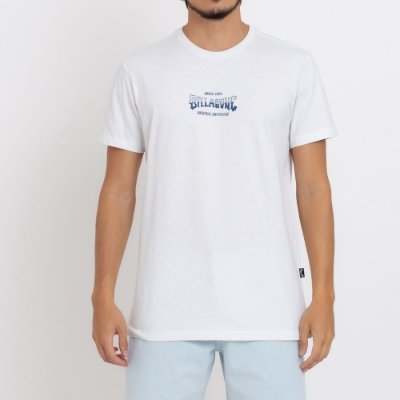 Camiseta Billabong Supply Wave Masculina Off White