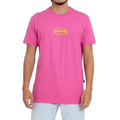Camiseta Billabong Supply Wave Masculina Rosa