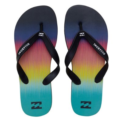 Chinelo Billabong Fluid Laranja/Azul