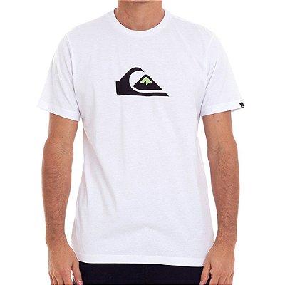 Camiseta Quiksilver Comp Logo Color Masculina Branco