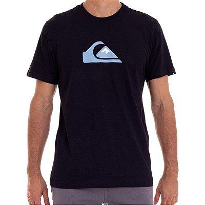 Camiseta Quiksilver Comp Logo Color Masculina Preto