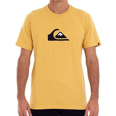 Camiseta Quiksilver Comp Logo Color Masculina Mostarda
