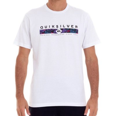 Camiseta Quiksilver Jungle Jim Masculina Branco