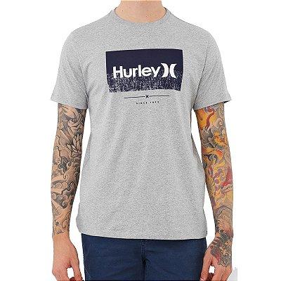 Camiseta Hurley Disorder Masculina Cinza Claro