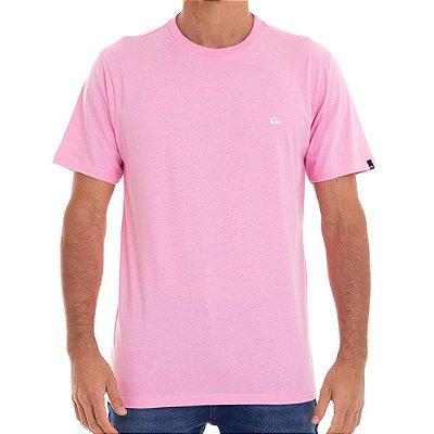 Camiseta Quiksilver Embroidery Masculina Rosa Claro