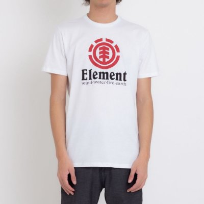 Camiseta Element Vertical Masculina Branco