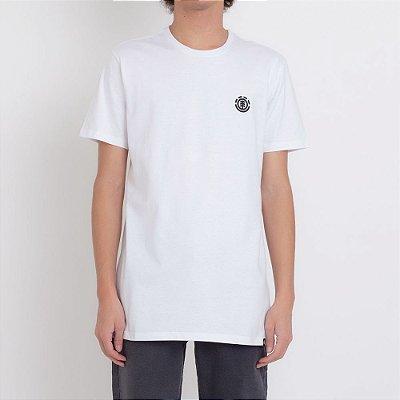 Camiseta Element Logo Basic Masculina Branco
