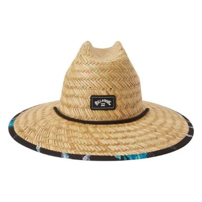 Chapéu de Palha Billabong Tides Print Marrom/Preto