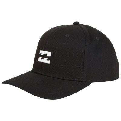 Boné Billabong Aba Curva All Day Snapback Preto/Branco