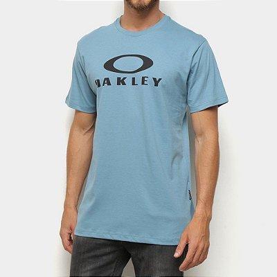 Camiseta Oakley O-Bark Masculina Azul Claro