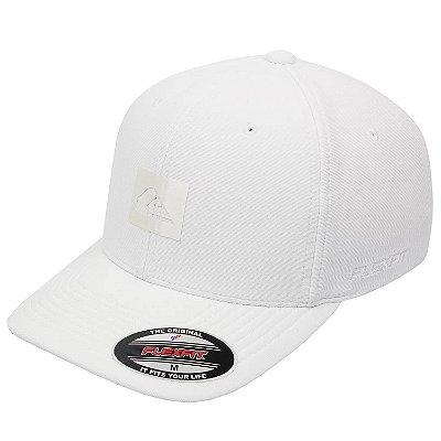 Boné Quiksilver Aba Curva Logo Reflective Branco