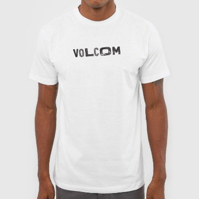Camiseta Volcom Reply Masculina Branco