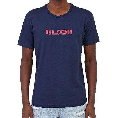 Camiseta Volcom Reply Masculina Azul Marinho