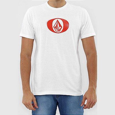 Camiseta Volcom Eliptical Masculina Branco