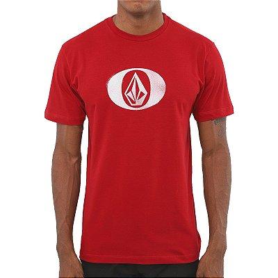 Camiseta Volcom Eliptical Masculina Vermelho