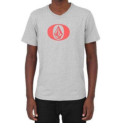 Camiseta Volcom Eliptical Masculina Cinza Mescla