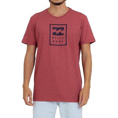 Camiseta Billabong United Stacked III Masculina Vermelho