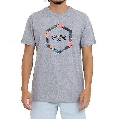 Camiseta Billabong Access III Masculina Cinza Claro