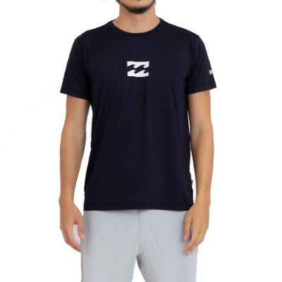 Camiseta Billabong Surf All Day Wave LF Masculina Preto