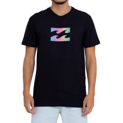 Camiseta Billabong Wave Gradient Masculina Preto