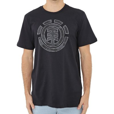 Camiseta Element Resist Icon Fill Masculina Preto