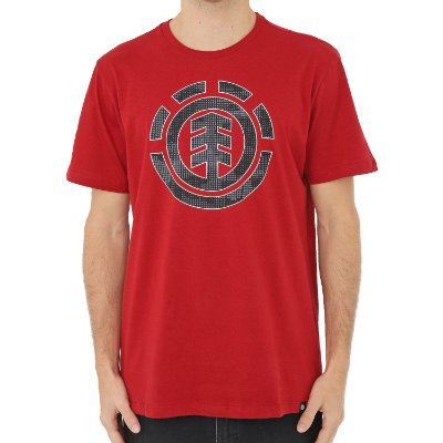 Camiseta Element Resist Icon Fill Masculina Vermelho