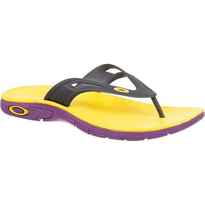 Chinelo Oakley Rest 2.0 Amarelo/Roxo