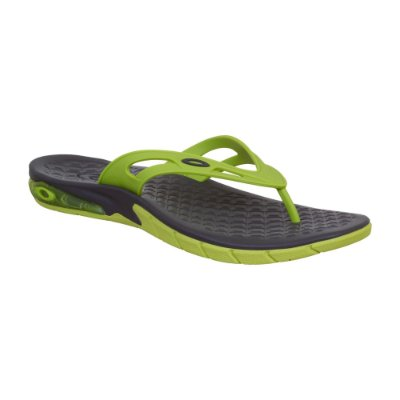 Chinelo Oakley Killer Point Masculino Cinza/Verde