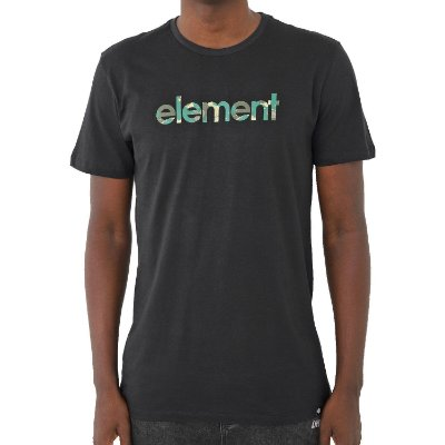 Camiseta Element Water Camo Mark Masculina Preto