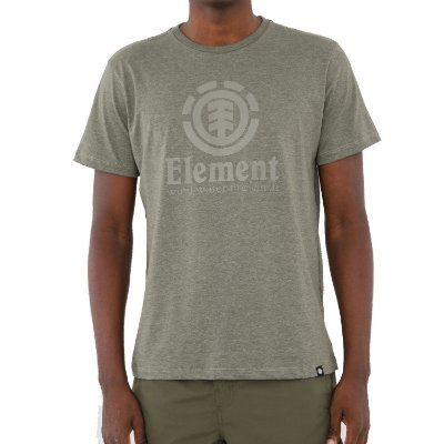 Camiseta Element Vertical Masculina Verde Escuro