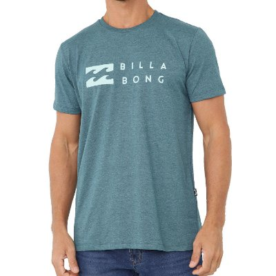 Camiseta Billabong United Masculina Verde Escuro