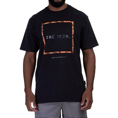Camiseta Oakley One Icon R1 Box Masculina Preto