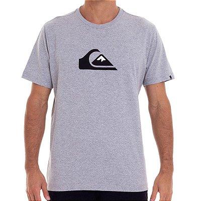 Camiseta Quiksilver Comp Logo Masculina Cinza Claro